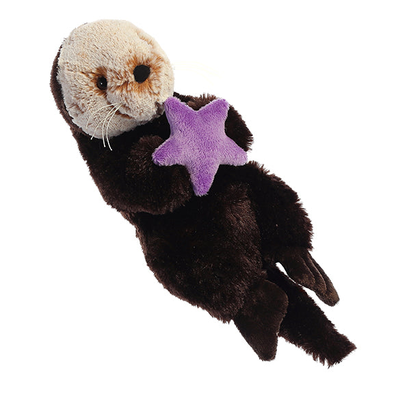 "Sea Otter & Star Fish 9"" Plush"