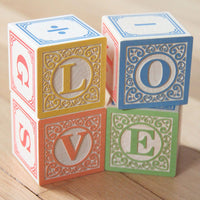 Classic ABC Wooden Blocks with Canvas Bag