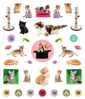 Kittens Eyelike Reusable Stickers
