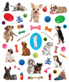 Puppies Eyelike Reusable Stickers