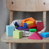 Grimm's Wooden 30 Colored Geo-Blocks