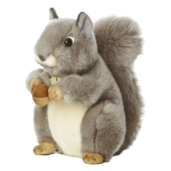 "Grey Squirrel 10"" Miyoni Plush"