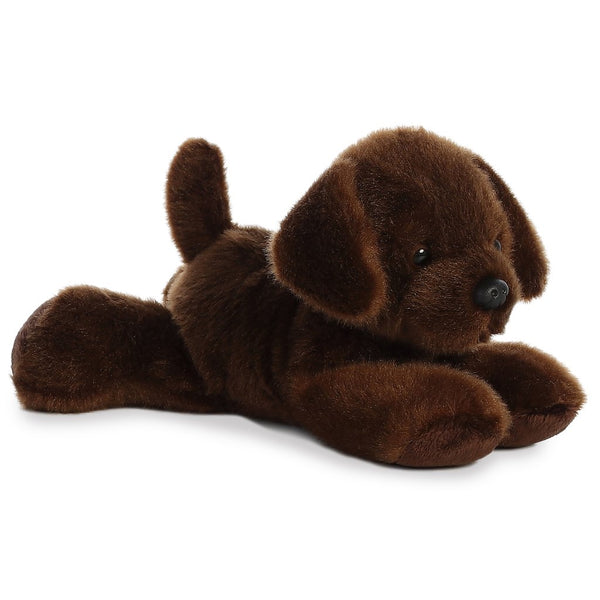 "Lil' Lucky Brown Dog 8"" Flopsie Plush"
