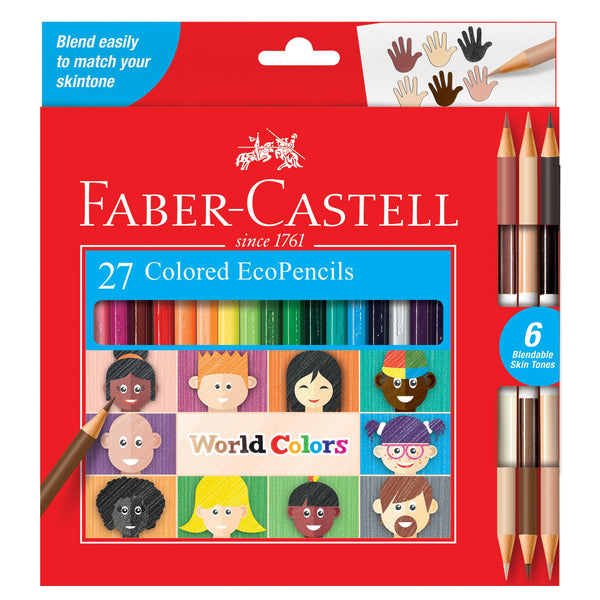 World Colors Colored EcoPencils, Set of 27