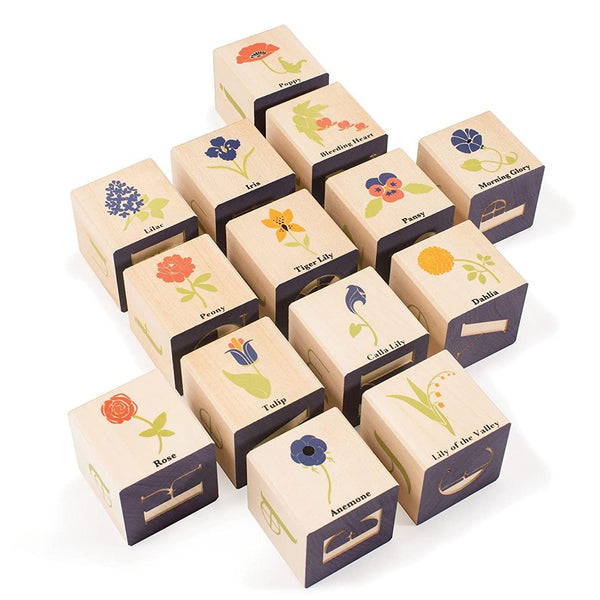 Flower Wooden Blocks