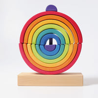 Grimm's Wooden Rainbow Stacking Tower