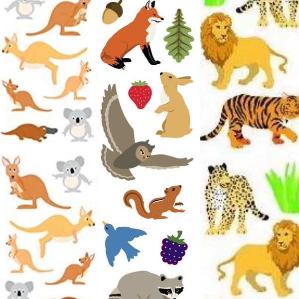 Animals of the World Sticker Set