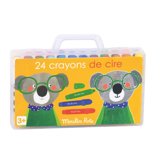 Twistable Wax Crayons, Set of 24