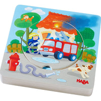 Firefighter Layered Disk Wooden Puzzle