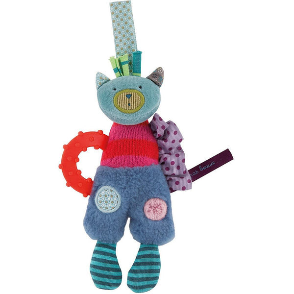 Patchwork Cat with Teething Ring