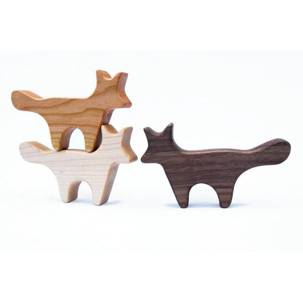 Fox Wood Toy Rattle