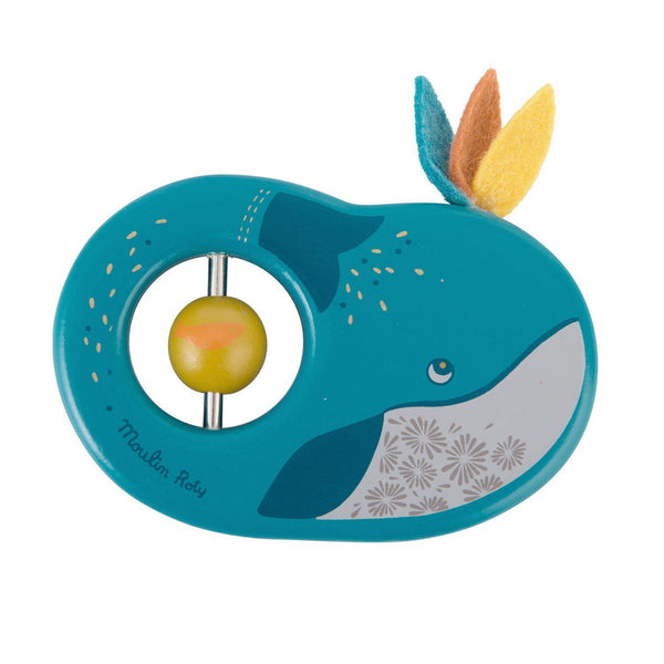 Josephine the Whale Wooden Rattle