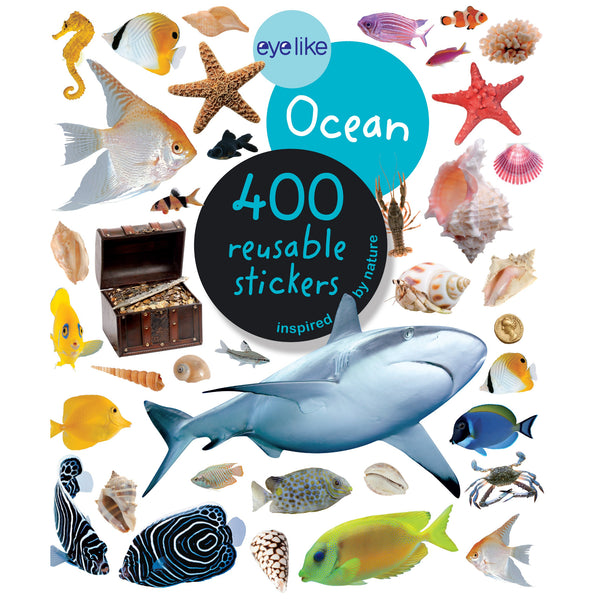 Ocean Eyelike Reusable Stickers