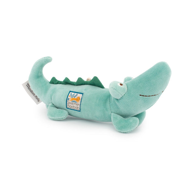 Sous Mon Baobab Crocodile Plush Rattle