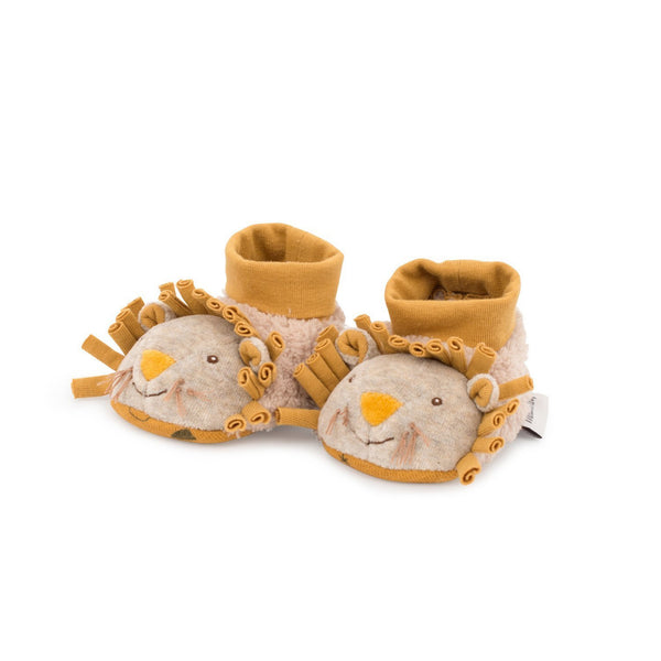 Sous Mon Baobab Lion Baby Slippers