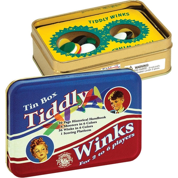 Tiddly Winks Nostalgic Toy Tin