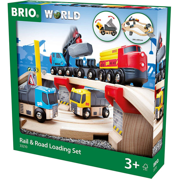 Brio Rail & Road Loading Train Set