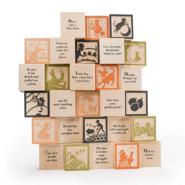 Nursery Rhyme Wooden Blocks, Set of 28