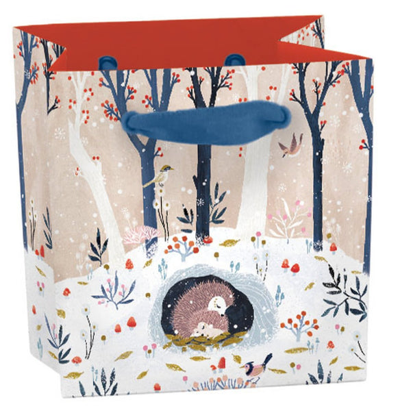 Hedgehog Winter Garden Gift Bag