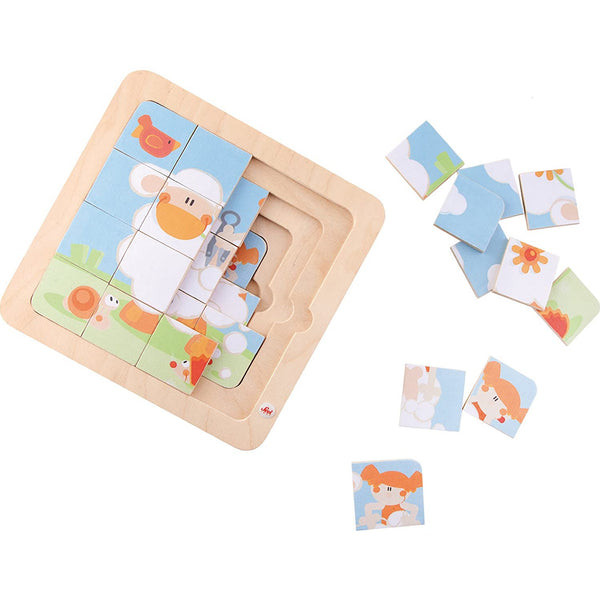 Sheep Shearing 4-in-1 Puzzle