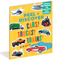 Peel & Discover: Cars! Trucks! Trains!