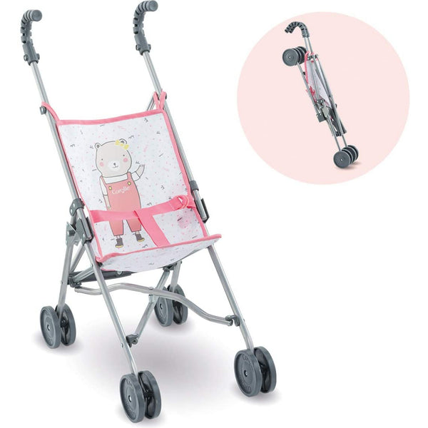 Pink Umbrella Stroller for Dolls