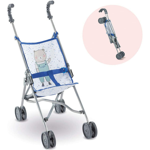 Blue Umbrella Stroller for Dolls