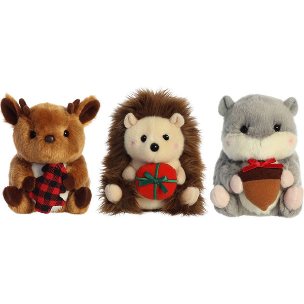 "Holiday Rolly Pet 5"" Plush"