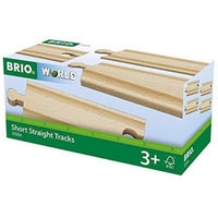 Brio Short Straight Railway Tracks