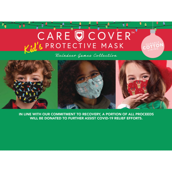 Holiday Care Cover Protective Face Mask - Kid Size