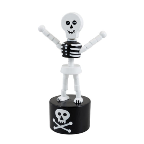 Dancing Skeleton Wooden Push Puppet