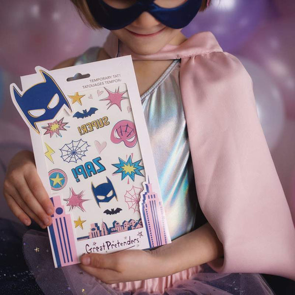 Superhero Star Temporary Tattoos
