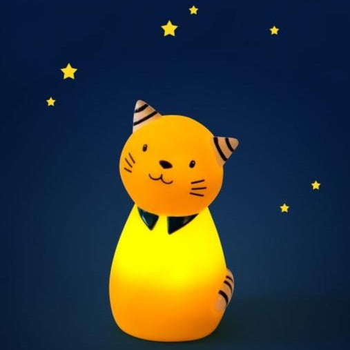 Les Moustaches Yellow Cat Night Light