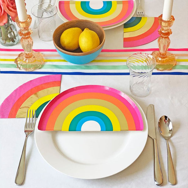 Rainbow Shaped Party Plates