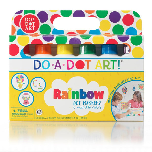 6 Rainbow Dot Markers