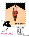 Sea Otter Needle Felting Kit - Easy