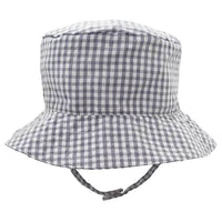 Storm Grey UPF 25+ Seersucker Bucket Hat