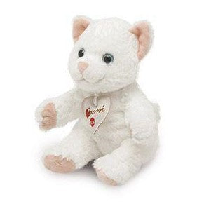 "Bussi White Kitty Cat 8"" Plush"