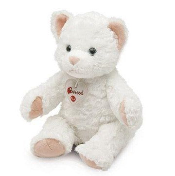"Bussi White Kitty Cat 12"" Plush"