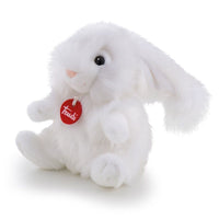 "Classic Fluffy White Rabbit 7"" Plush"