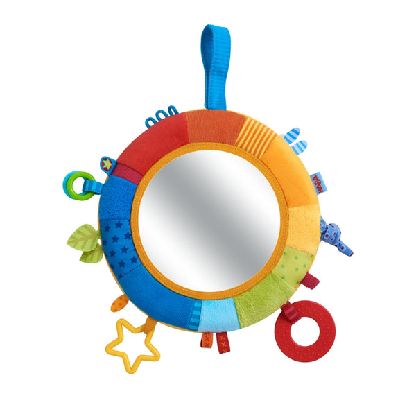 Rainbow Discovery Teether Mirror Pillow