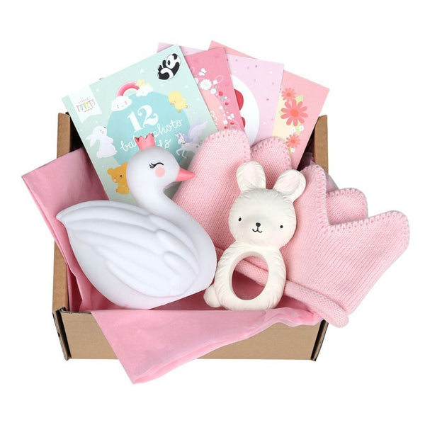 Welcome Little Girl Baby Gift Set