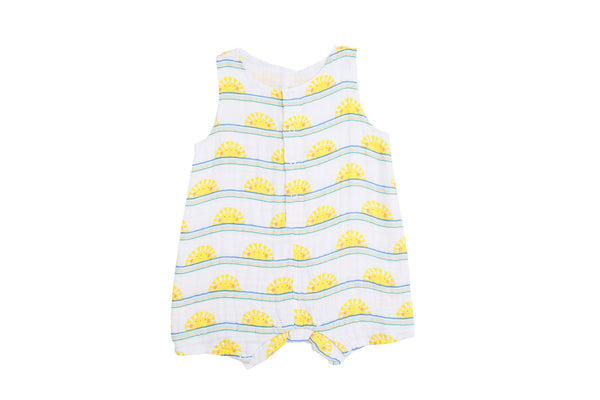 Sun Stripe Shortie Romper Blue