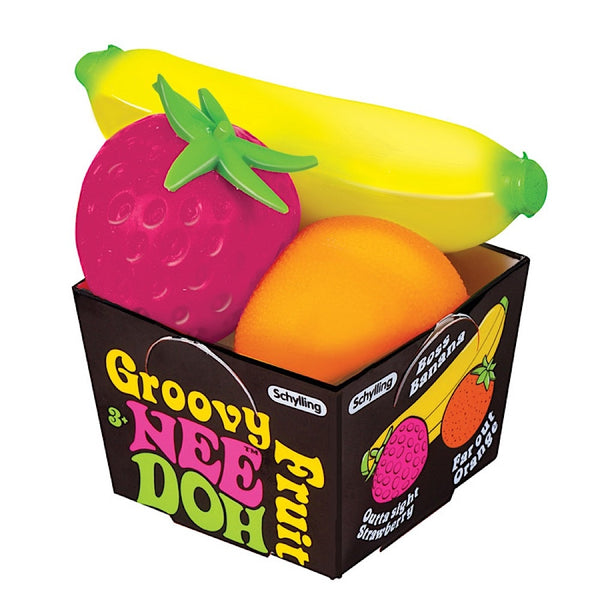 NeeDoh Squishy Groovy Fruit