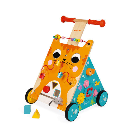 Multi Activities Cat Baby Walker