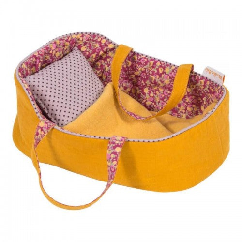 Mustard Moses Doll Bed, Medium