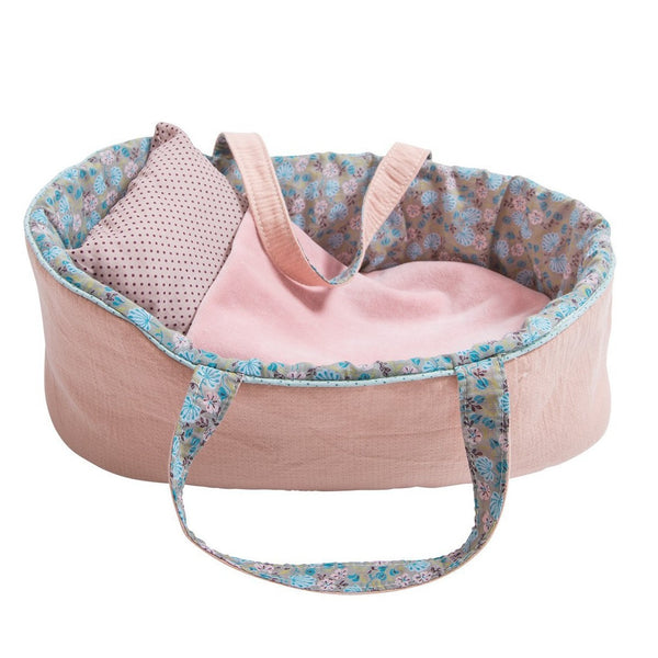Mauve Moses Doll Bed, Large
