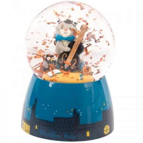 Les Moustaches Musical Snow Globe