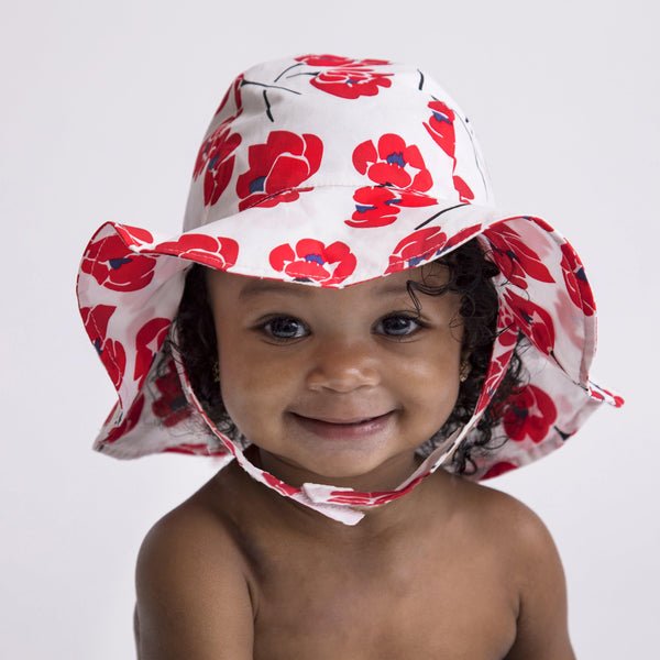 Red Poppy UPF 25+ Sunhat