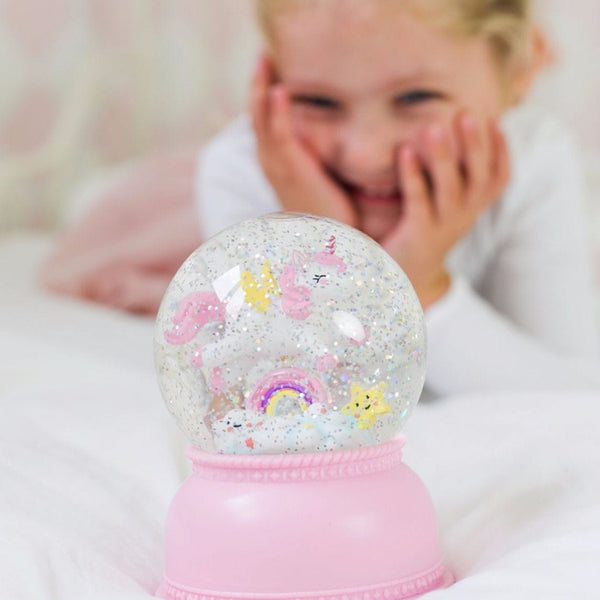 Unicorn Light-Up Snow Globe